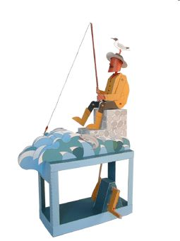 GOOD FISHING AUTOMATA IN CARTONE
