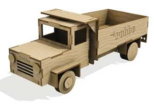 CAMION IN LEGNO LASER CUT KIT