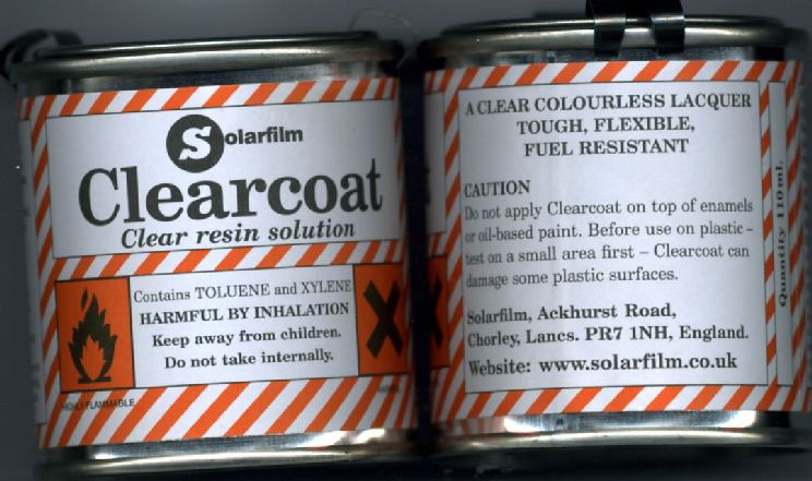 CLEARCOAT 110ml RESINA TRASPARENTE