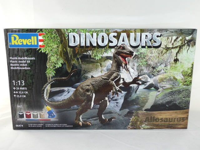 ALLOSAURUS DINOSAURO KIT 1/13 INCLUSO COLLA E COLORI