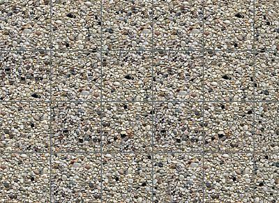 Pavimento piastrelle granito lavato per esterno in cartoncino 2