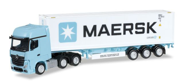 "MERCEDES BENZ ACTROS GIGASPACE SEMIRIMORCHIO CONTAINER ""MAERSK"""