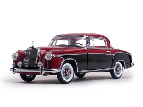 MERCEDES BENZ 220 SE COUPE' NERA/ROSSA 1958 1/18