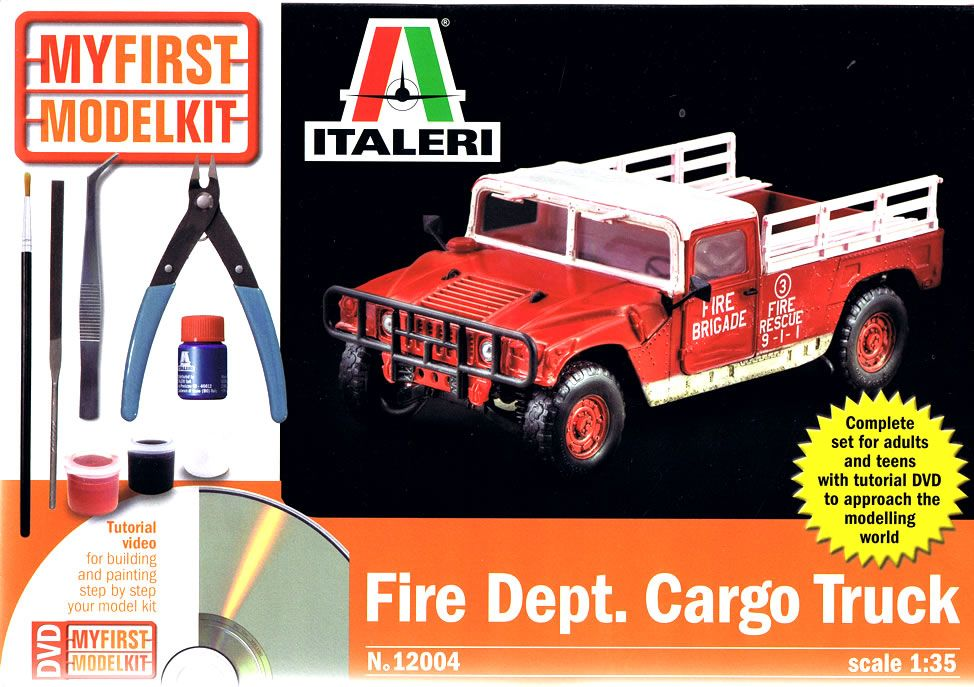 FIRE DEPT. CARGO TRUCK KIT SET CO ATTREZZI 1/35