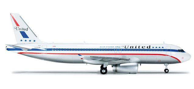 AIRBUS A320 UNITED AIRLINES 85° AANIV. FRIEND SHIP 1/200