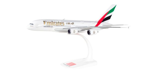 AIRBUS A380-800 EMIRATES SNAP FIT 1/250 HERPA