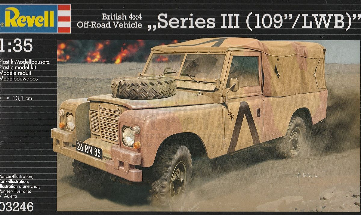 BRITISH 4X4 OFF-ROAD VEICHLE SERIES III(109/LWB) 1/35